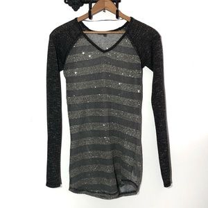 Miss Me Sweater w/ Silver Sequin Embellishments